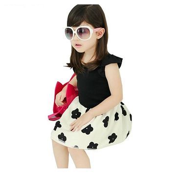 Baby girl birthday dress children Clothes Princess Big bow-knot dress for summer Kids Clothing