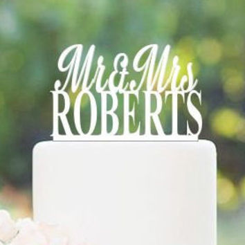 Sale Today only Personalized Custom Mr & Mrs Wedding Cake Topper with YOUR Last Name Surname Perfect Wedding shower gift Bridal shower