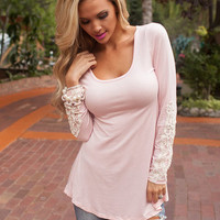 Laced with Class Tunic Blush