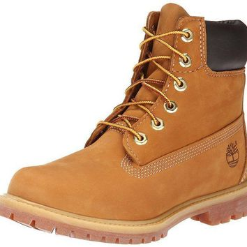Timberland Rhubarb Boots 10361 Yellow For Women Men Shoes Waterproof Martin Boots