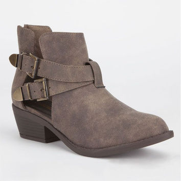 Soda Autry Womens Boots Taupe  In Sizes