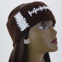 Football Ear Warmer, Crochet Headband