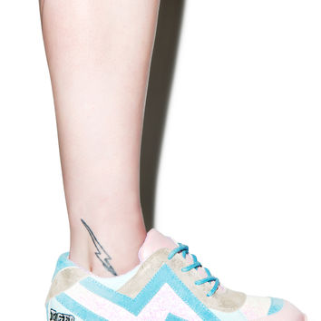 Irregular Choice Big Bolt Sneakers Pink/Blue