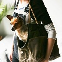 Free People Leather Rope Dog Bag