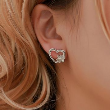 Cat Paw Earrings Studs In Silver Or Gold Colors