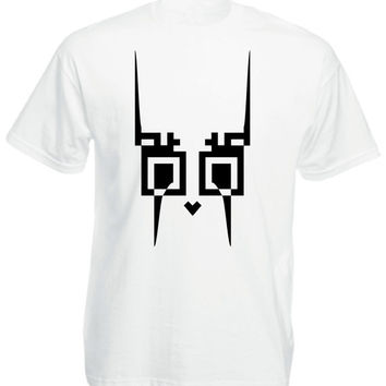 White Tshirt for Men with Twitty Print by Eliran Nargassi