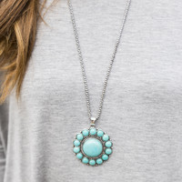 Changing Tides Turquoise Pendant Necklace