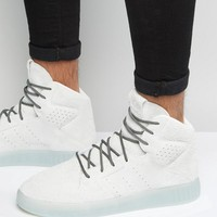 adidas Originals Tubular Invader 2.0 Sneakers In White S80399 at asos.com