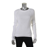 Vince Womens Cable Knit Open Stitch Pullover Sweater