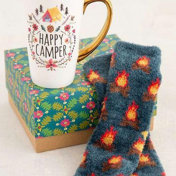 Happy Camper Mug & Cozy Sock Gift Set