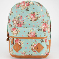 Carrot Company Floral Print Backpack Mint One Size For Women 23782052301