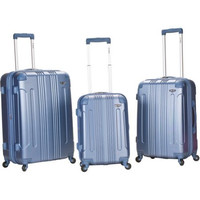 3 Piece Carry-On ABS Travel Wheeled Rolling Hard Side Spinner Suitcase Luggage Set Baggage Set