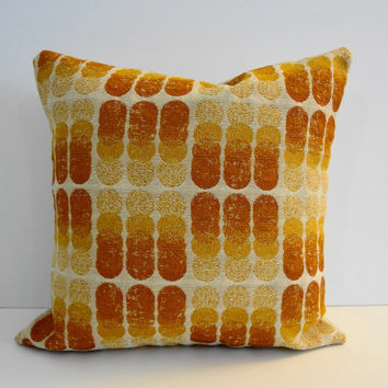 Decorative Pillow Cover, Throw Pillow Cover, Orange, Sunkist, Circles, 14 x 14