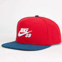 Nike Sb Icon Mens Snapback Hat Red One Size For Men 25402330001