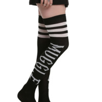 Harry Potter Muggle Black Over-The-Knee Socks