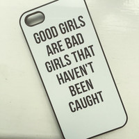 """Black """"Good Girls Are Bad Girls"""" iPhone 5 5S Hipster 5SOS Phone Case"""