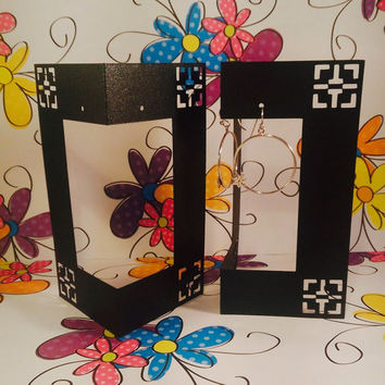 12 Earring Display Card, Black Shimmer for Craft Shows, Jewelry Shows, Retail Display