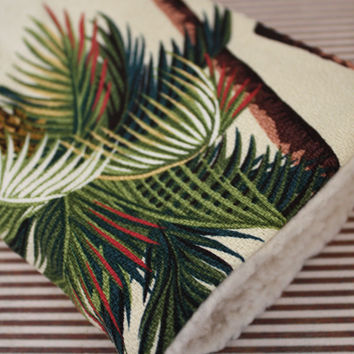 palm tree barkcloth ipad mini covers
