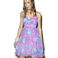 ELECTRIC SPARKS BABYDOLL DRESS