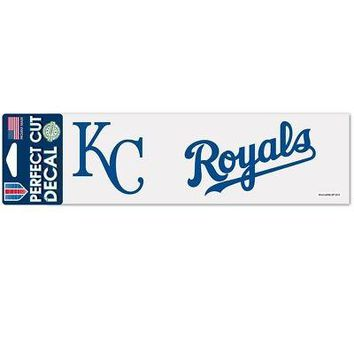 """Licensed Kansas City Royals Official MLB 3""""x10"""" Die Cut Car Decal by Wincraft 339270 KO_19_1"""