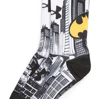 Boy's Under Armour 'Batman - Sublimation' Performance Crew Socks, Size Large - White