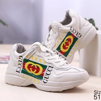 GUCCI Fashion Retro Women Men Casual Sport Running Shoes Sneakers 4#