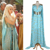 Game Of Thrones Daenerys Targaryen Cosplay Chiffon Costume