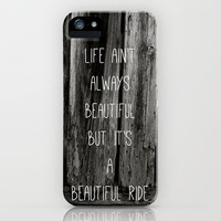 (iphone case) Old Barnwood Beautiful Ride Quote iPhone & iPod Case by Amy Fewell Photography
