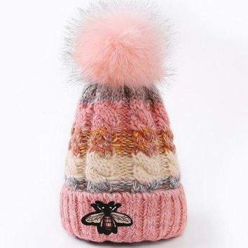 Gucci' Women Embroidery Beanies Knit Hat Warm Woolen Hat