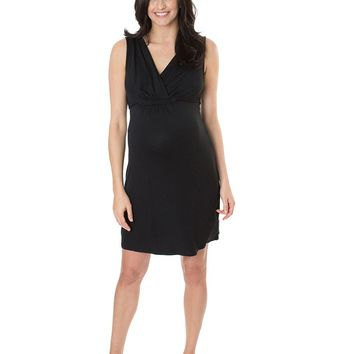 Bloom-In Black Maternity & Nursing Nightgown