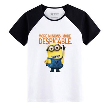 2017 Spring&Summer Despicable Me T-shirts Cartoon Movie 100% Cotton t-Shirts minious for men Innovation pattern