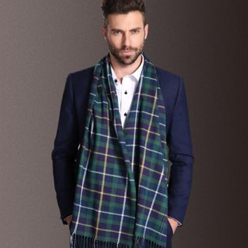 New Europe Fashion Shawl Scarves Men Winter Warm Tartan Scarf Business Plaid Modal Wraps 17 Styles