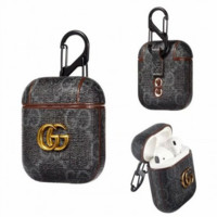 Black GUCCI AirPods Case Cover Bluetooth Wireless Earphone Protector