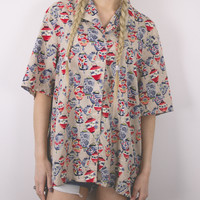 Vintage Lanterns Abstract Blouse