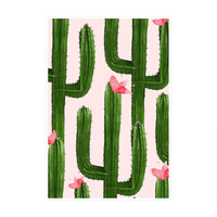 Happy Cacti Art Print