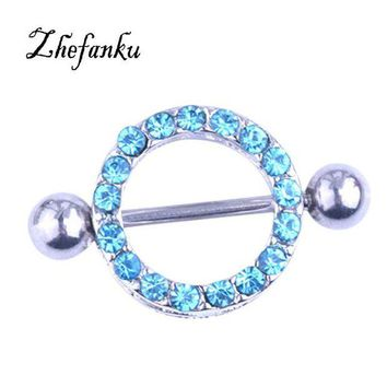 ac DCCKO2Q Fresh Summer Sunflower Piercing Sexy Bar Rings Jewelry Creative Punk Body Jewellery Women Men Gift