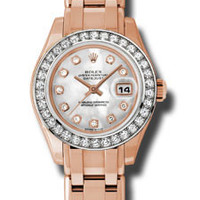 Rolex - Datejust Pearlmaster Lady Everose Gold - 34 Diamond Bezel