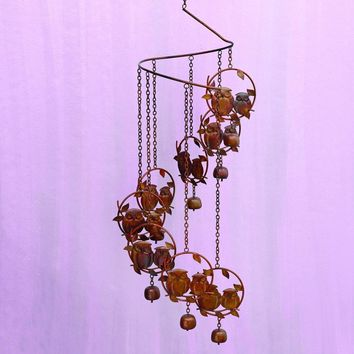 Owls Spiral Mobile Wind Chime
