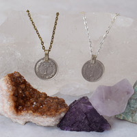 Gypsy Coin Necklace  Indian Money Coin necklace made to order customizable