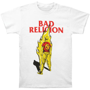 Bad Religion Men's  Boy On Fire T-shirt White Rockabilia