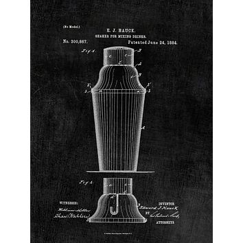 Cocktail Shaker Patent Print - Art Print - Patent Poster - Bar Decor - Drink Mixer