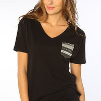 WeSC The Larper Contrast V Neck Tee in Black : Karmaloop.com - Global Concrete Culture