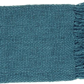 Tobias Throw Blankets in Teal Color by Surya – BURKE DECOR