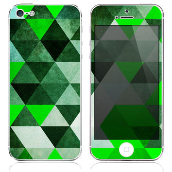 Jade Triangle Skin for the iPhone 3gs, 4/4s, 5, 5s or 5c