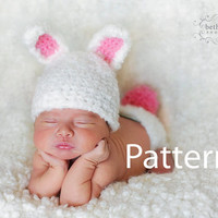 Hat PATTERN Easter Bunny HAT Patter Baby Hat by SnassyCrafter