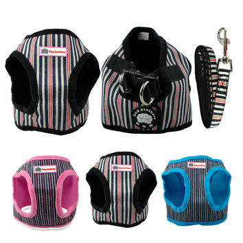 Cute Soft Puppy Harness With Matching Leash Dog Harness & Cat Harness