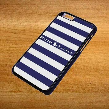 Polo Ralph Lauren Blue White Stripes For iPhone 6 Plus Case *76*