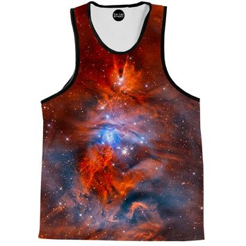 Red Nebula Tank Top