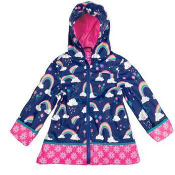 All Over Print Rainbow Raincoat