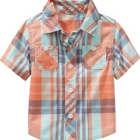 Old Navy Plaid Shirts For Baby